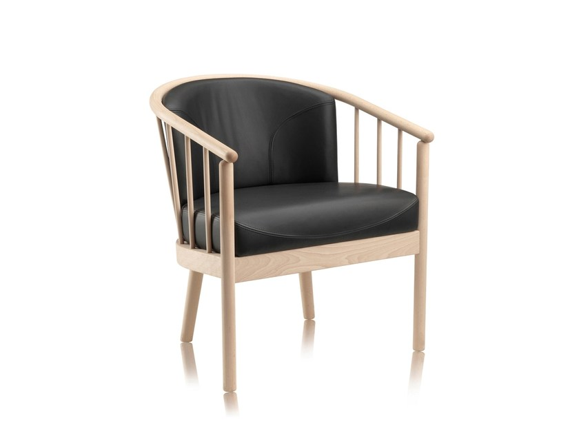Wooden easy chair with armrests ORION by Stouby