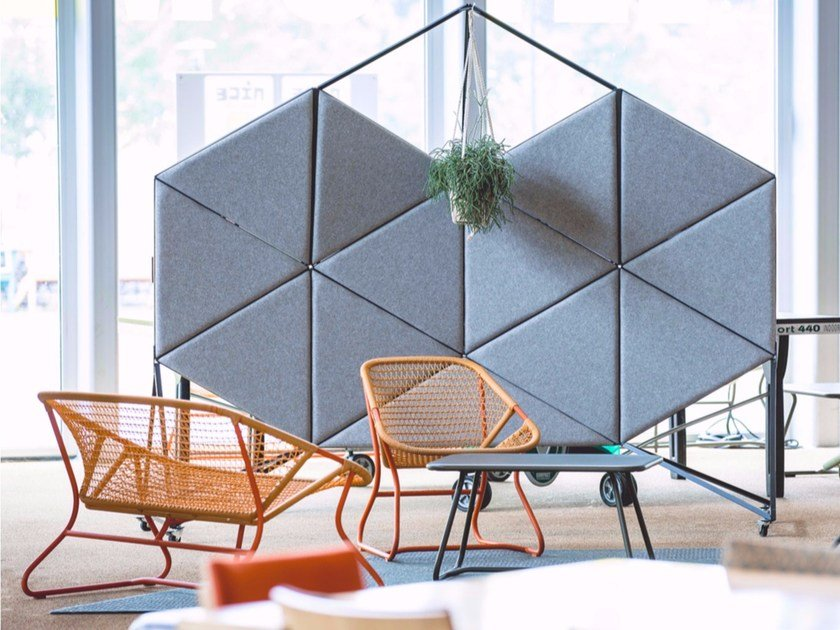 Sound absorbing workstation screen ORION by bogaerts label