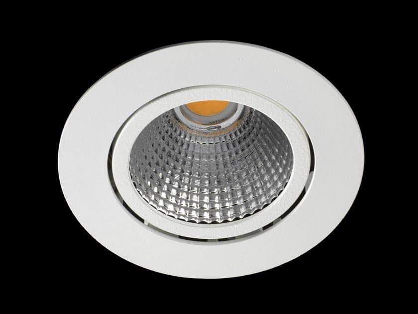 Faretto a LED orientabile in alluminio verniciato a polvere da incasso ORION by LUNOO