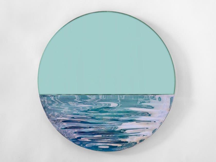 Round wall-mounted mirror ORIZON by Ocrùm