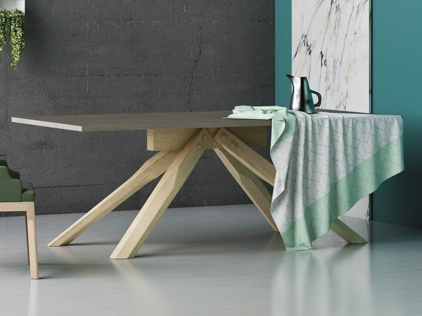 Rectangular solid wood dining table ORIZZONTE | Table by Imperial Line