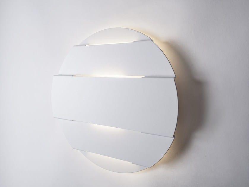 Lampada da parete a LED a luce diretta in metallo ORIZZONTI by Lucente
