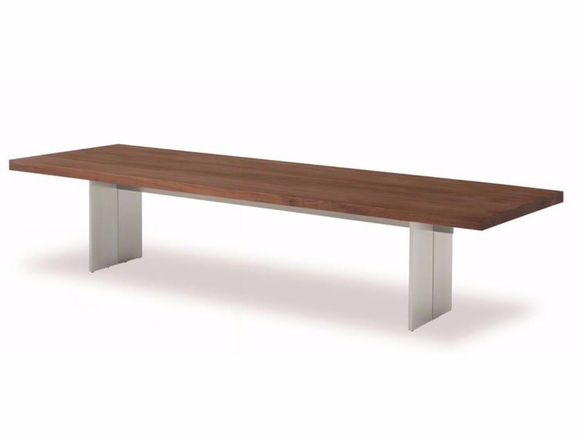 Aluminium and wood bench ORLANDO BENCH by Riva 1920