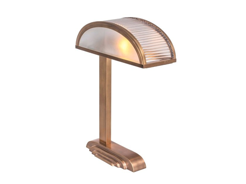 Brass table lamp with fixed arm ORLEANS | Table lamp by Patinas Lighting