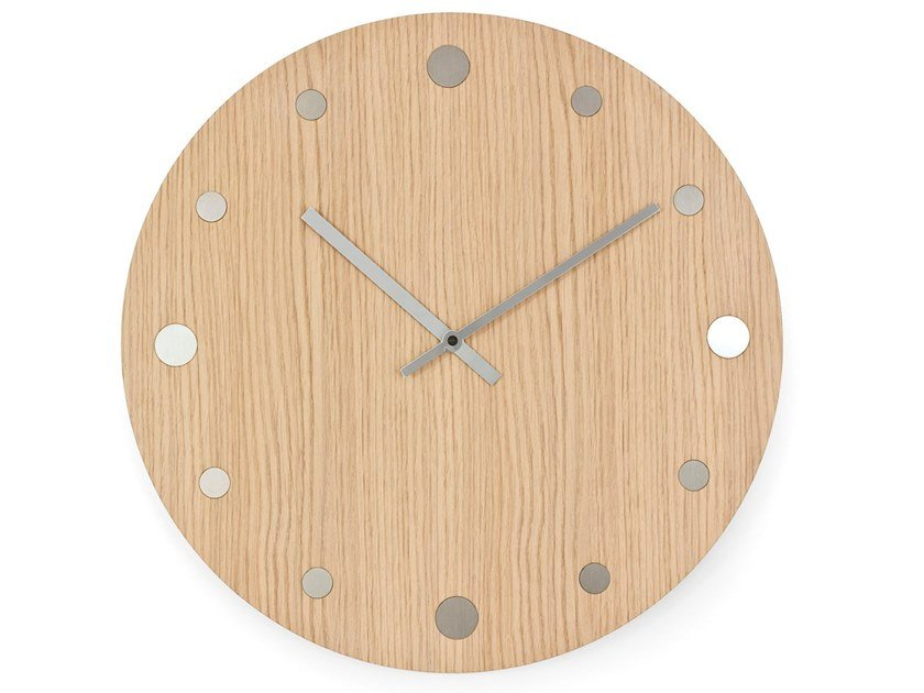 Wall-mounted solid wood clock ORLOI by KARN