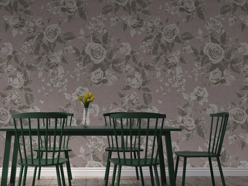 Vinyl wallpaper with floral pattern ORN18_008 | Wallpaper by OR.NAMI