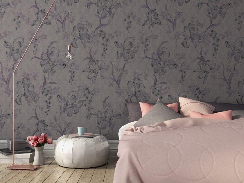 Vinyl wallpaper with floral pattern ORN18_023 | Wallpaper by OR.NAMI