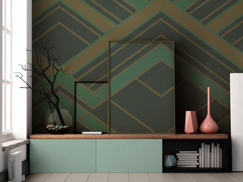 Geometric vinyl wallpaper ORN18_021 | Wallpaper by OR.NAMI