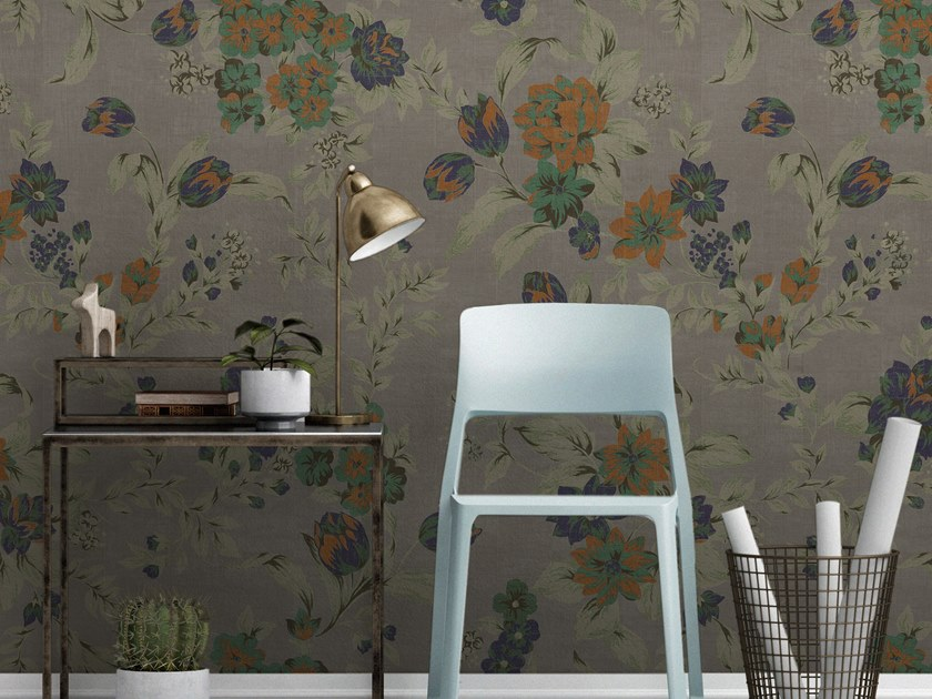 Vinyl wallpaper with floral pattern ORN18_029   Wallpaper by OR.NAMI