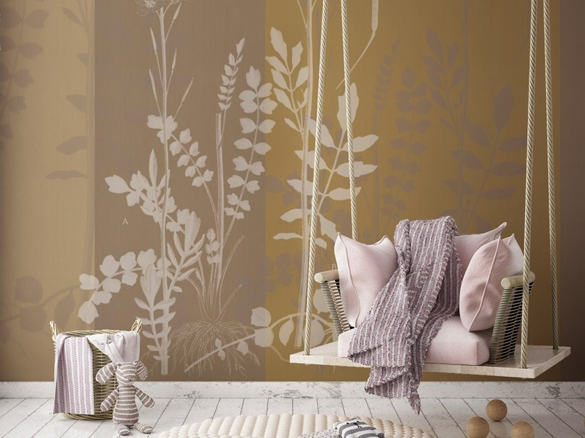Vinyl wallpaper with floral pattern ORN18_040 | Wallpaper by OR.NAMI