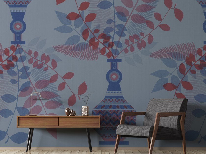 Vinyl wallpaper with floral pattern ORN18_056 | Wallpaper by OR.NAMI