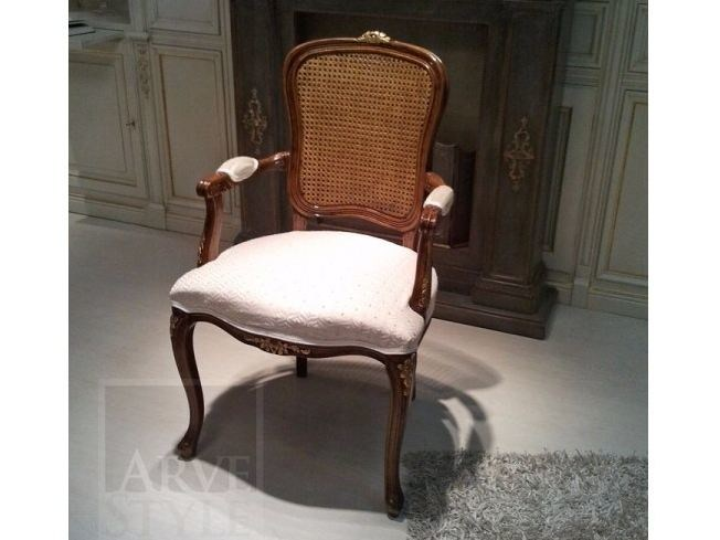 Solid wood chair with armrests MARA | Chair with armrests by Arvestyle