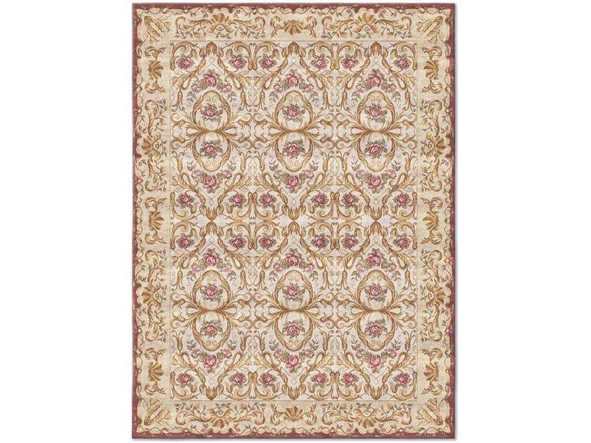 Handmade rectangular rug ORNAMENTAL NUDE VELVET by Tapis Rouge