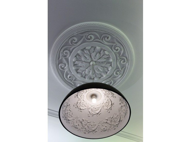 Plaster pendant lamp ORNATA by GESSO