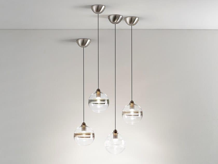 Direct light glass pendant lamp ORO by Vetreria Vistosi