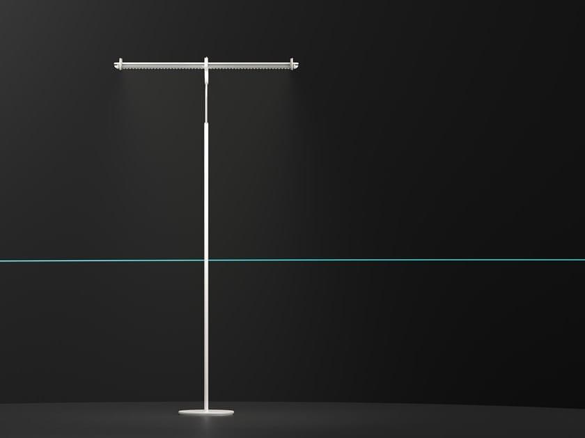 Handmade aluminium floor lamp ORON by HOLY TRINITY