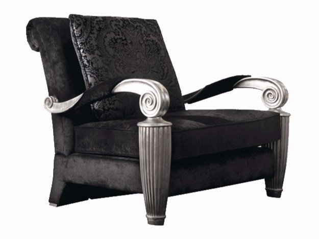 Fabric armchair with armrests ORPHEO by ELLEDUE ARREDAMENTI