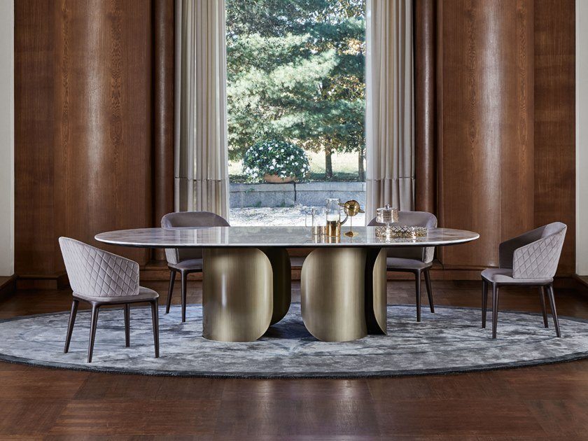 Oval marble table OSCAR by OPERA CONTEMPORARY