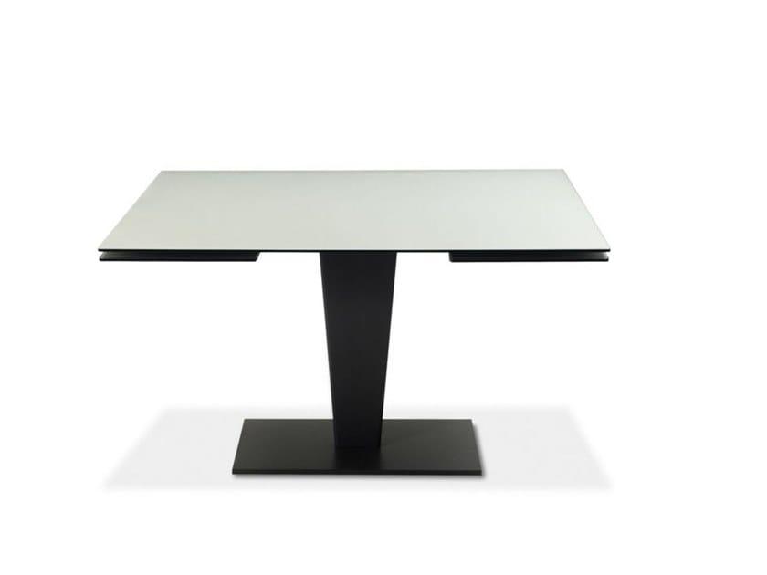 Tavolo Quadrato Allungabile Da Esterno.Tavolo Allungabile Da Pranzo Quadrato In Vetro Osiris By Roche Bobois