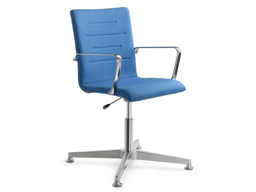 Height-adjustable chair with 4-spoke base with armrests OSLO 227-F34-N6 by LD Seating