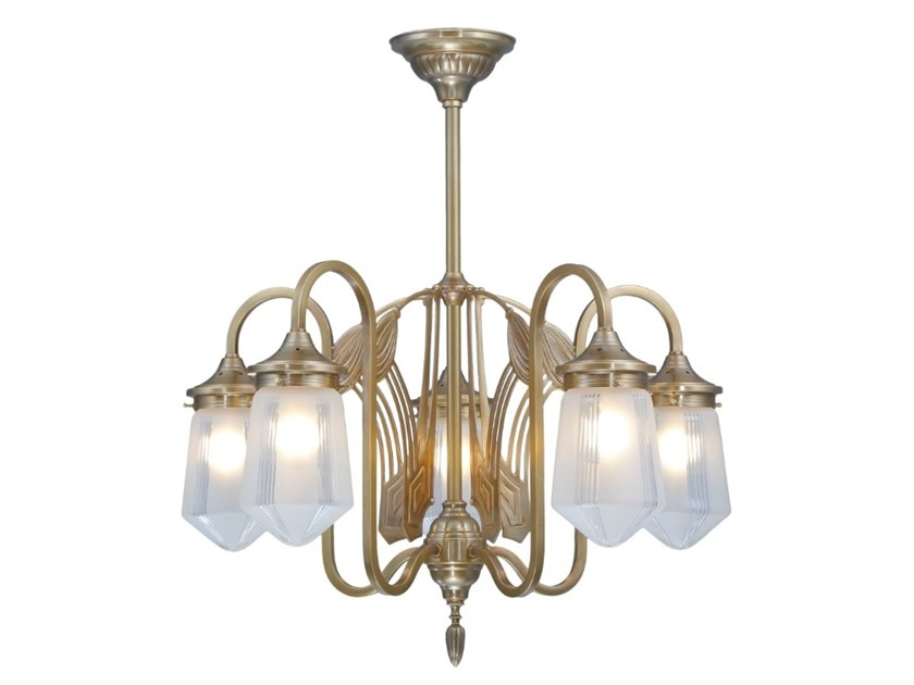 Handmade brass chandelier OSLO 5 | Chandelier by Patinas Lighting