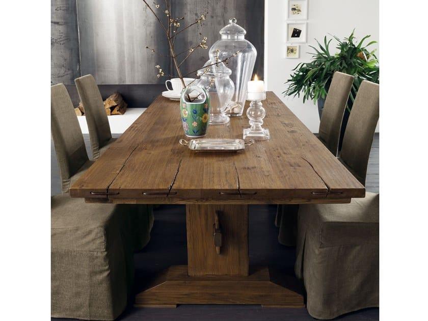 Rectangular oak dining table OSLO by AltaCorte