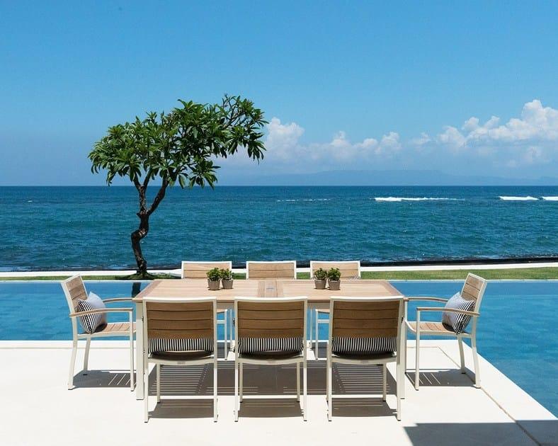 Extending teak garden table OSLO   Table by INDIAN OCEAN. OSLO   Table Oslo Collection By INDIAN OCEAN
