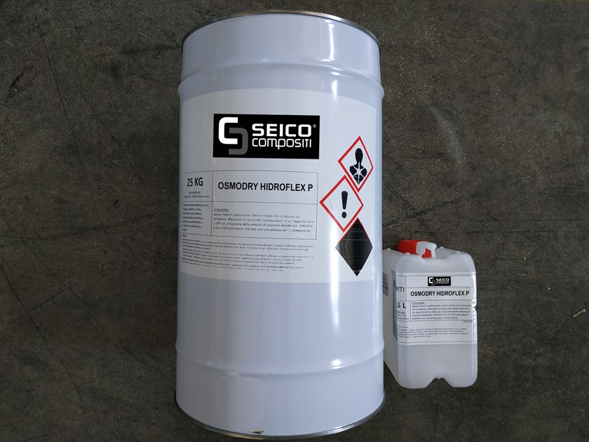 Additive and resin for waterproofing OSMODRY HIDROFLEX P® by Seico Compositi