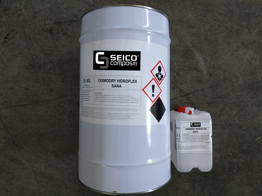 Additive and resin for waterproofing OSMODRY HIDROFLEX SANA® by Seico Compositi