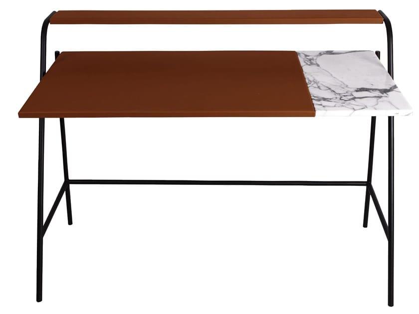 Leather secretary desk OSSAU by Versant Edition