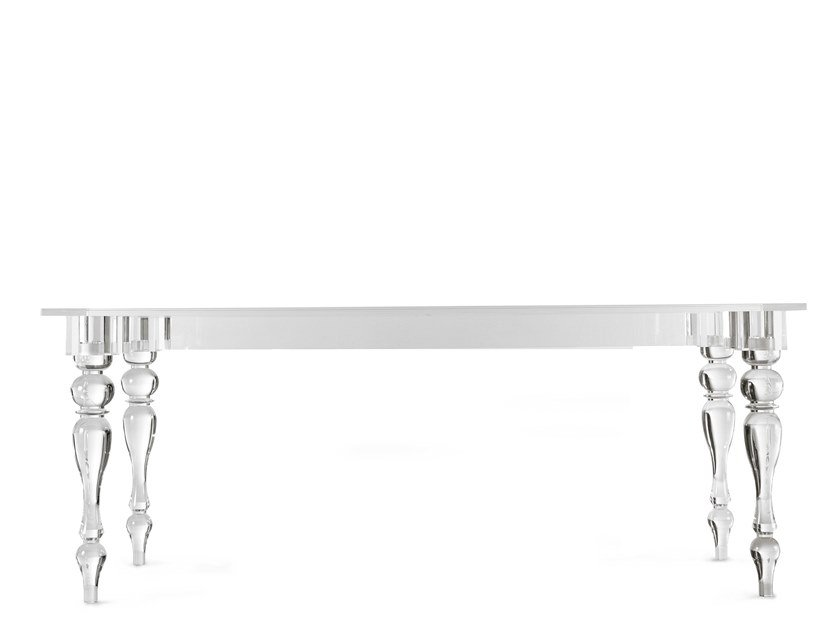 Rectangular methacrylate table OSTE | Rectangular table by Colico