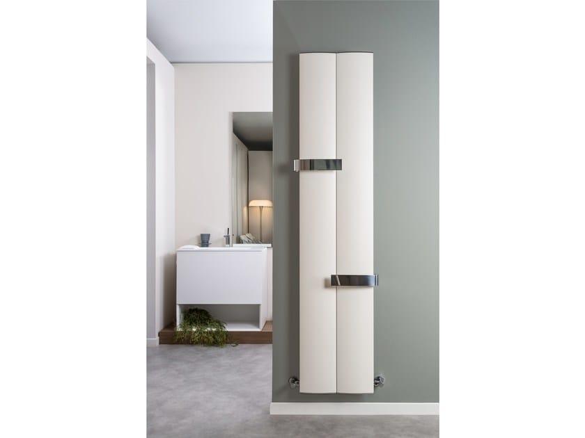 Vertical wall-mounted aluminium decorative radiator OTHELLO TWIN SLIM by RIDEA
