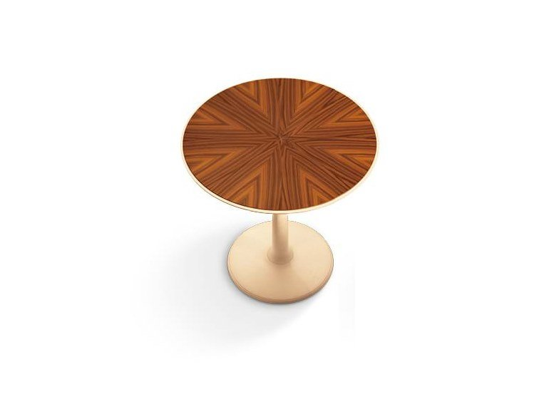 Round wooden coffee table OTI   Round coffee table by GIORGETTI
