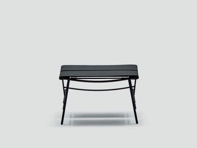 Tanned leather pouf / footstool OTRAN   Pouf by da a