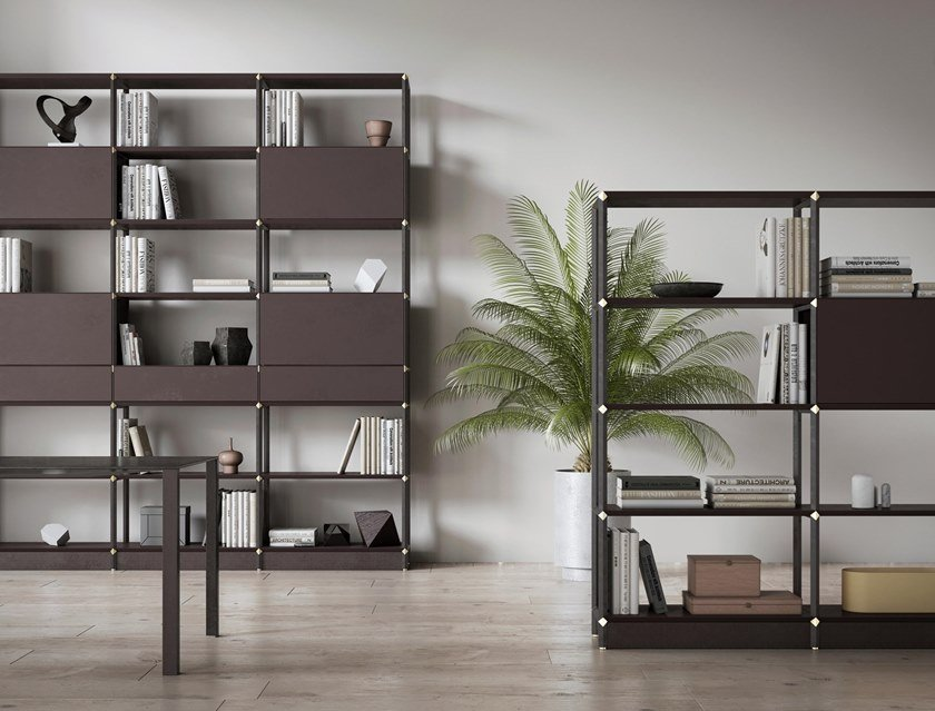 Office storage unit / office shelving OTTAEDRO by Dieffebi