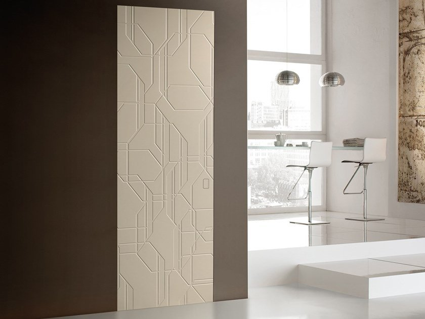 Lacquered wooden door OTTAGONO by BARAUSSE