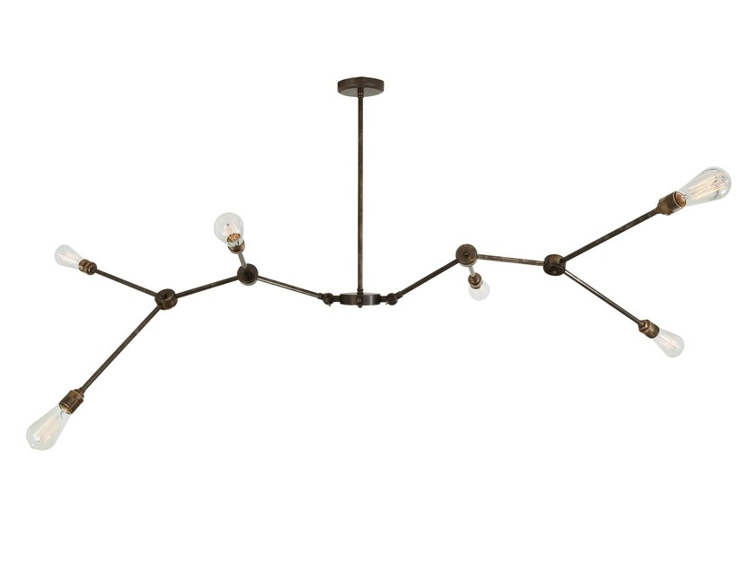 Brass chandelier OTTAWA by Mullan Lighting
