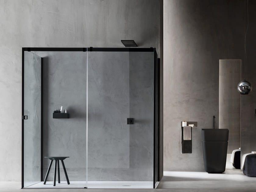 Box Doccia Arblu.Rectangular Shower Cabin With Sliding Door Otto Shower