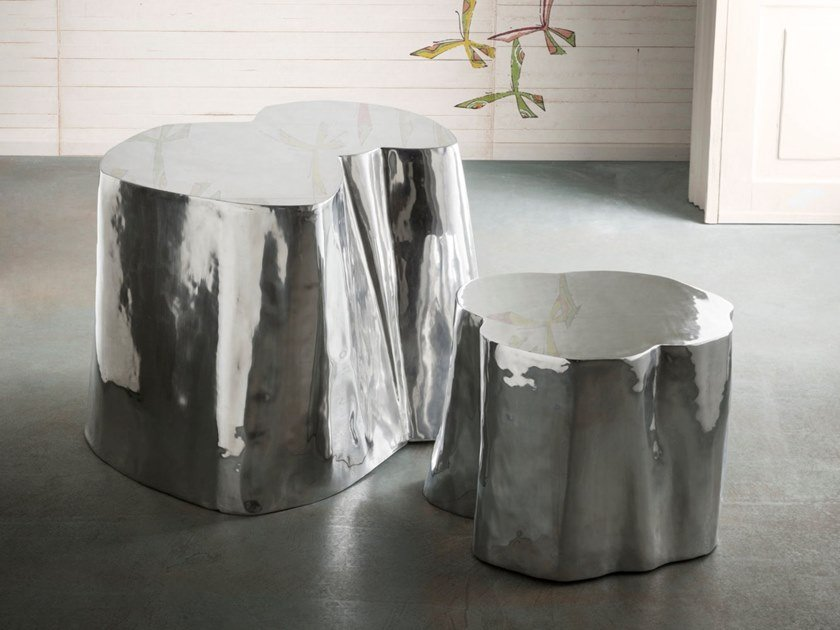 Aluminum casting coffee tables OTTO TALL & LOW by ELITE TO BE