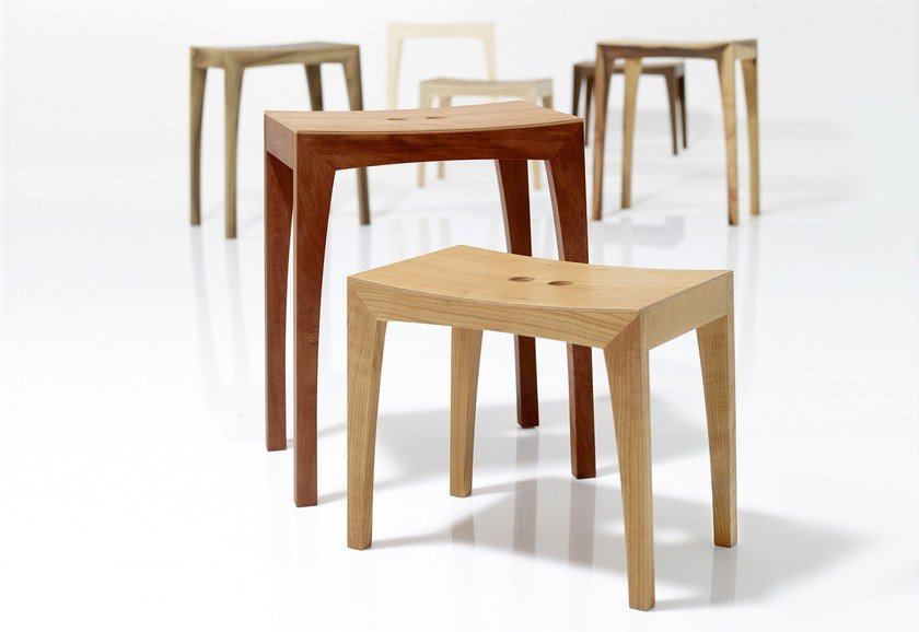 Contemporary Style Low Wooden Stool OTTO2 | Wooden Stool By Sixay Furniture
