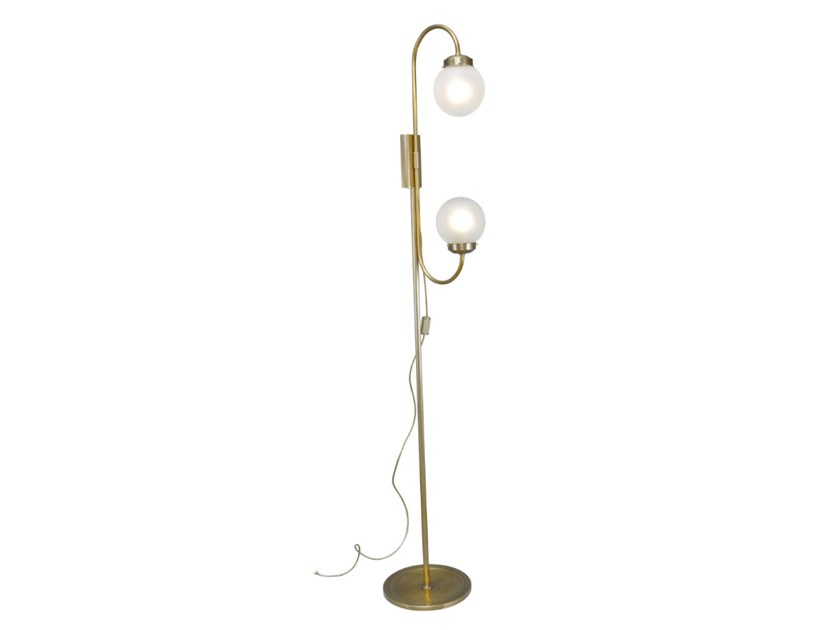 Handmade brass floor lamp OTTONE 1 | Floor lamp by Patinas Lighting