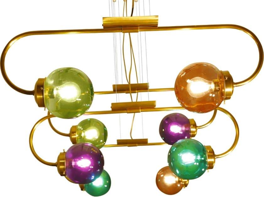 A 1Lampada Sospensione Mano In Ottone Fatta Lighting Patinas JcTl1FK