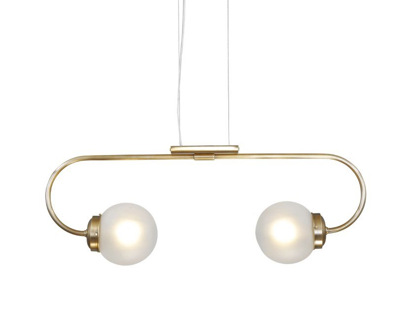 Handmade brass pendant lamp OTTONE 1 | Pendant lamp by Patinas Lighting