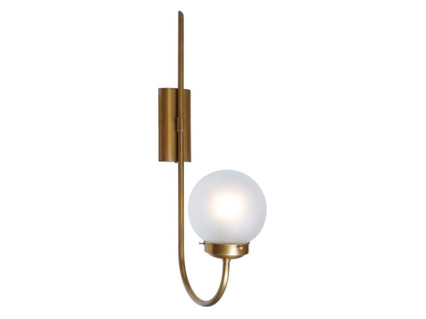 Handmade brass wall lamp OTTONE 1 | Wall lamp by Patinas Lighting