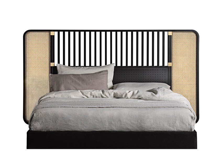 Double bed with high headboard OTTOW by Wiener GTV Design