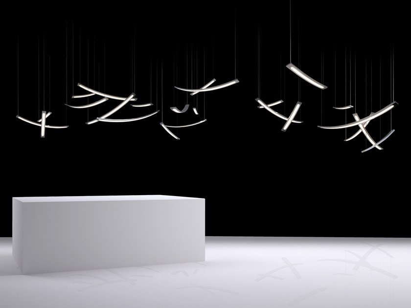 LED direct light metal pendant lamp OUT OF LINE H1 by ILFARI