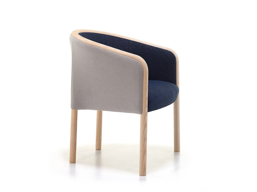 Fabric easy chair with armrests OUTLINE 02 by Very Wood