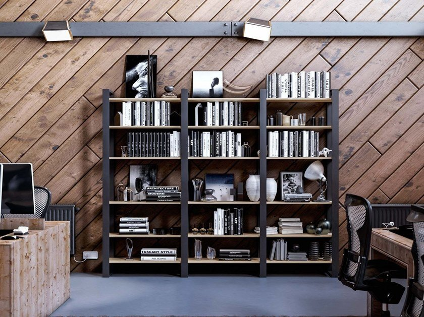 Wall-mounted bookcase OUTLINE by Damiano Latini