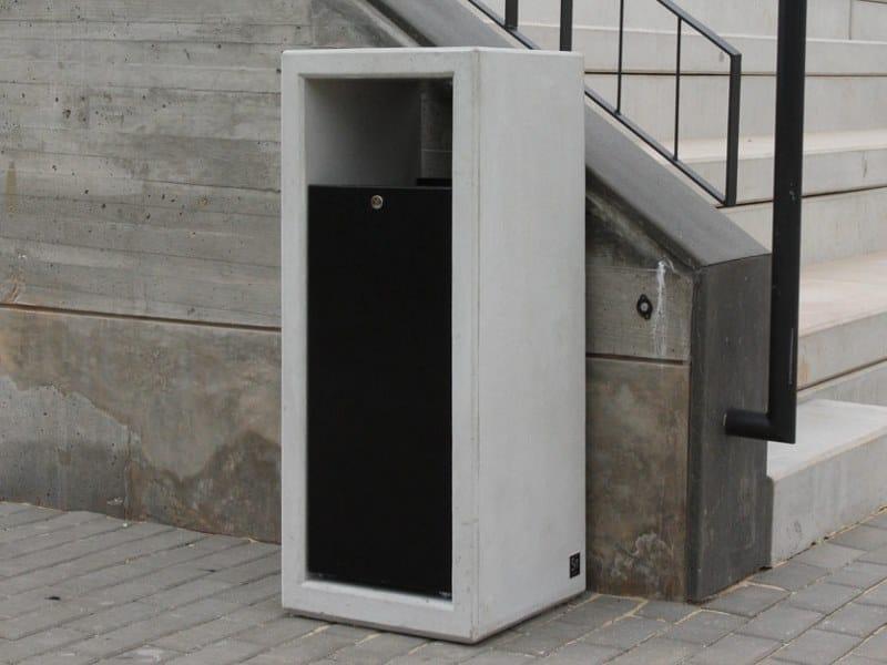 Portarifiuti in cemento per esterni OUTLINE | Portarifiuti by Sit