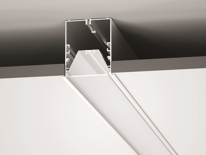 Direct light recessed PMMA ceiling lamp OUTLINE_MF by Linea Light Group